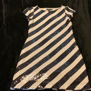 Black & White Sequin Dress